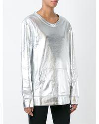 Norma Kamali - Metallic Sweatshirt - Lyst