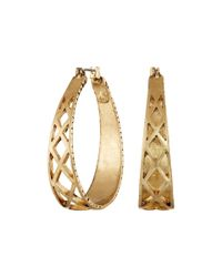 The Sak | Metallic Openwork Metal Hoop Earrings | Lyst