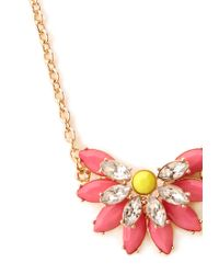 Forever 21 - Metallic Vintageinspired Faux Stone Necklace - Lyst