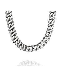 Fred Bennett - Metallic Stainless Steel Flat Link Necklace for Men - Lyst