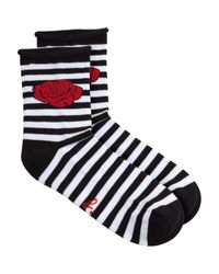 agnès b. - Black Rose Socks - Lyst
