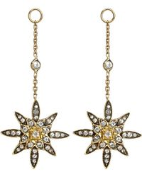 Annoushka - Metallic Frost 14ct Yellow-gold And Sapphire Earring Drop - Lyst
