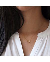 Lee Renee - Metallic Halo 18K Gold Necklace - Lyst