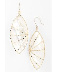 Lana Jewelry | Metallic 'riviera - Isabella' Drop Earrings - Mother Of Pearl/ Yellow Gold | Lyst