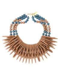 Katerina Psoma - Brown Multi Beaded Row Ceramic Necklace - Lyst