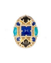 Kendra Scott - Blue Delaney Oval Ring - Lyst
