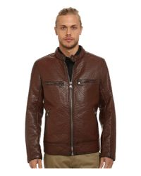 Marc New York | Brown Gramercy Bubble P/u Moto Jacket W/ Chest Zipper Pockets for Men | Lyst