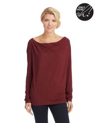 Lord & Taylor | Red Cowl Neck Top | Lyst