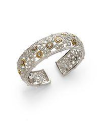 Judith Ripka - Metallic Diamond Bon Bon Cuff - Lyst