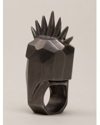 Kelly Wearstler - Gray 'head Trip' Ring - Lyst