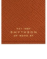 Smythson - Brown Panama Leather Currency Case for Men - Lyst