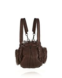Alexander Wang - Brown Mini Marti Backpack in Espresso with Matte Black - Lyst