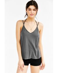 Truly Madly Deeply - Gray Double Strap Tank Top - Lyst