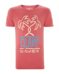 Quiksilver | Red Roadie Tee V3 T-shirt for Men | Lyst