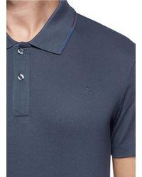 PS by Paul Smith - Blue Bi-colour Collar Trim Polo Shirt for Men - Lyst