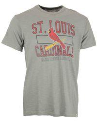 47 Brand - Gray Men's Short-sleeve St. Louis Cardinals T-shirt for Men - Lyst