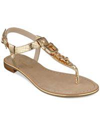 Guess - Metallic Rehan Chain Thong Sandals - Lyst