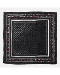 COACH - Multicolor Skulls Silk Foulard Square Scarf - Lyst