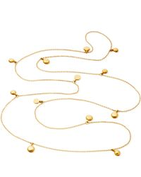 Astley Clarke | Metallic Long Gold Vermeil Sonatina Disc Necklace | Lyst