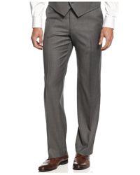 Alfani | Gray Pants, Mid-grey Stepweave Slim Fit for Men | Lyst