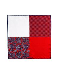JZ Richards | Red Silk Pocket Square for Men | Lyst