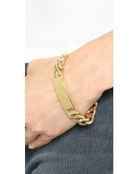 Marc By Marc Jacobs | Metallic Standard Supply Id Bracelet - Oro | Lyst