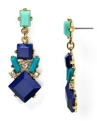 Carolee | Blue Miami Mod Chandelier Earrings | Lyst