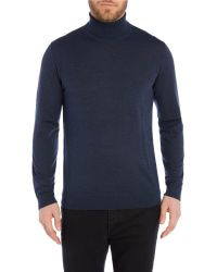 Paul Smith - Blue Plain Roll Neck Pull Over Jumper for Men - Lyst