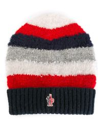 Moncler Grenoble - Blue Striped Beanie - Lyst