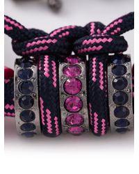 Lanvin - Blue Contrasting Panel Bracelet - Lyst