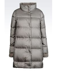 Armani | Gray Down Jacket In Technical Fabric | Lyst