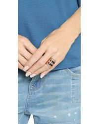 Pamela Love - Pink Inlay Path Ring - Rose Gold/Onyx - Lyst