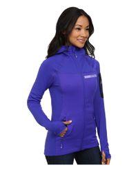 Adidas   Purple Terrex Stockhorn Fleece Hoodie   Lyst