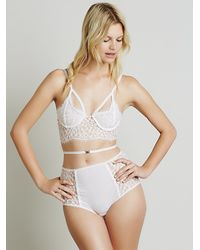 Free People | Pink X For Love And Lemons Womens Daisy Longline Underwire | Lyst