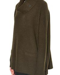 Vince - Green Roll-Neck Wool-Blend Sweater - Lyst