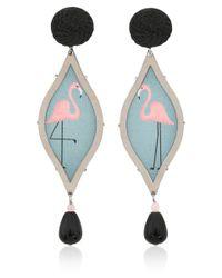 Anna E Alex - Black Flamingo Deco Drop Earrings - Lyst