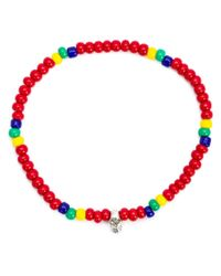 Luis Morais | Red Mini Skull Beaded Bracelet | Lyst