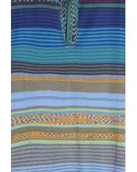 Missoni - Blue Striped Polo for Men - Lyst