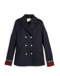 Gucci - Blue Caban Wool-Blend Military Jacket - Lyst