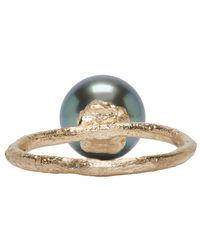 Pearls Before Swine   Metallic Yellow Gold Tahitian Pearl Ring   Lyst