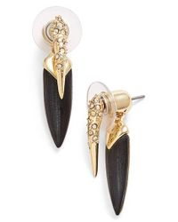 Alexis Bittar - Black 'lucite Metal' Spike Ear Jackets - Lyst