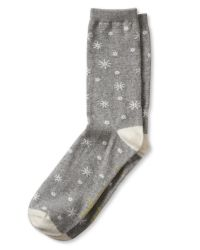 "Banana Republic | Gray ""up To Snow Good"" Sock 
