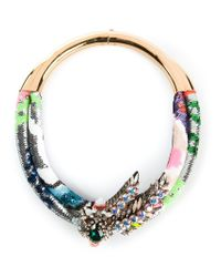 Shourouk - Multicolor Double 'aigrette' Necklace - Lyst