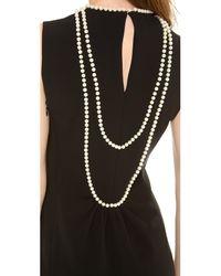 Moschino - Black Sleeveless Short Dress - Lyst