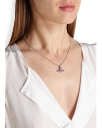 Vivienne Westwood | White Grace Bas Relief Orb Crystal Necklace | Lyst