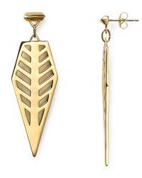 Rebecca Minkoff - Metallic Open Blade Drop Earrings - Lyst