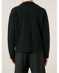 Iris Von Arnim | Blue Off-Centre Front Zip Fastening Cardigan for Men | Lyst