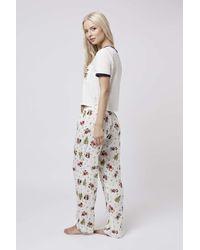 TOPSHOP | Natural Mickey Pyjama Set | Lyst