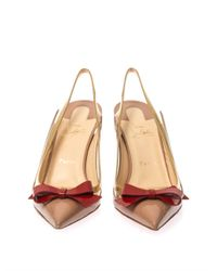 Christian Louboutin - Metallic Suspenodo 85Mm Slingback Pumps - Lyst