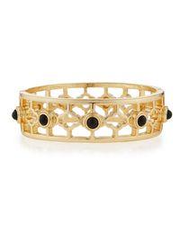 R.j. Graziano | Black Clover Golden Hinge Bracelet | Lyst